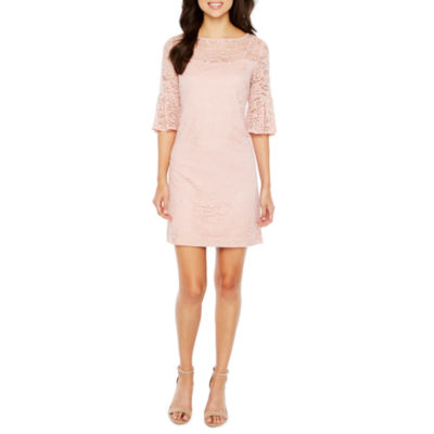Studio 1 3/4 Sleeve Lace Shift Dress