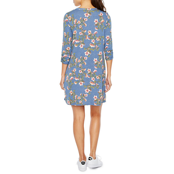 Alyx 3/4 Sleeve Floral Shift Dress