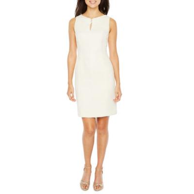 Chelsea Rose Sleeveless Embellished Sheath Dress