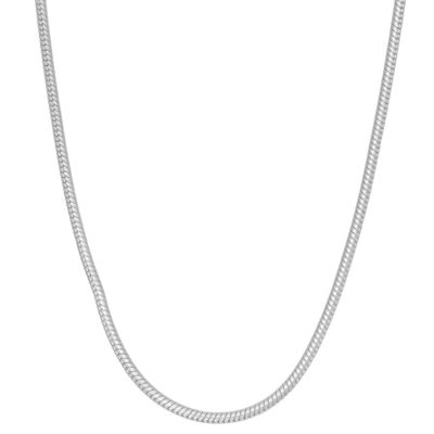 Sterling Silver 24 Inch Semisolid Chain Necklace