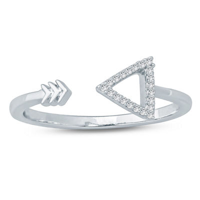 Womens Diamond Accent White Diamond Sterling Silver Band