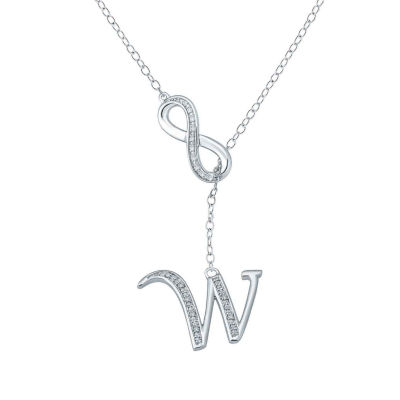 Womens Diamond Accent Genuine White Diamond Sterling Silver Round Pendant Necklace