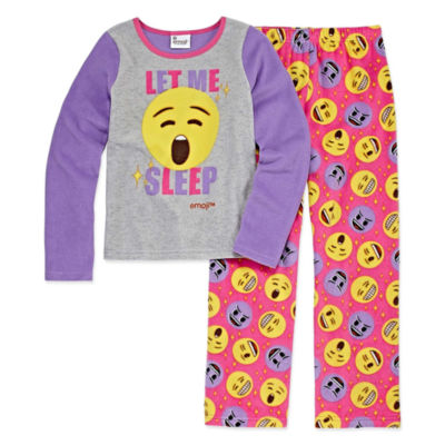 Emoji, Inc. 2-pc. Pant Pajama Set Girls