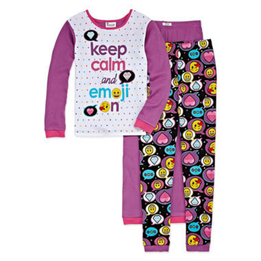 Emoji, Inc. 3-pc. Pant Pajama Set Girls