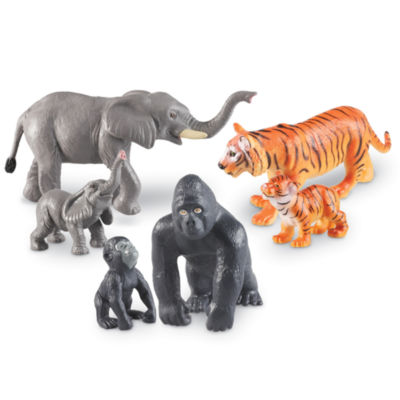 Learning Resources Jumbo Jungle Animals - Mommas and Babies