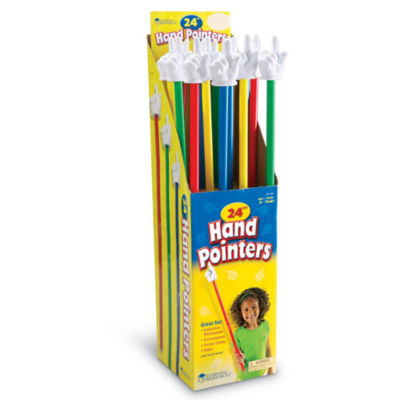 "Learning Resources 24"" Hand Pointers Set of 16 inDisplay"""