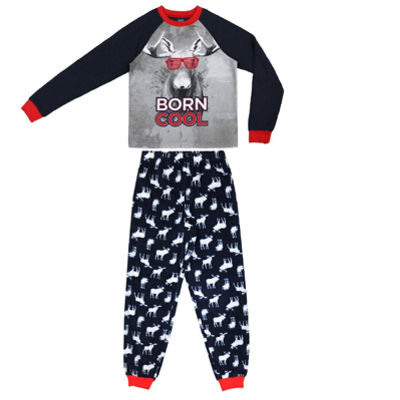 Moose 2 Piece Pajama Set - Boys 4-20