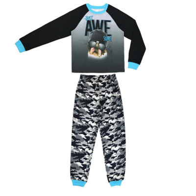 Skate Print 2 Piece Pajama Set - Boys 4-20