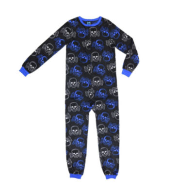 Skull Print One Piece Pajama - Boys 4-20