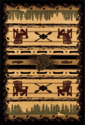 Art Carpet Cabin Adirondack Trail Woven Rectangular Rugs