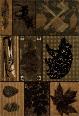 Art Carpet Cabin Black Bear Trail Woven Rectangular Rugs