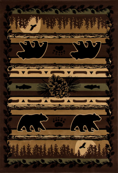 Art Carpet Cabin Grizzly Forest Woven Rectangular Rugs