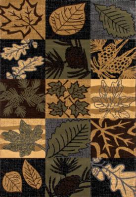 Art Carpet Cabin Smokey Mountains Woven Rectangular Rugs