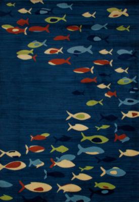 Art Carpet Seaport Fish School Woven Rectangular Runner