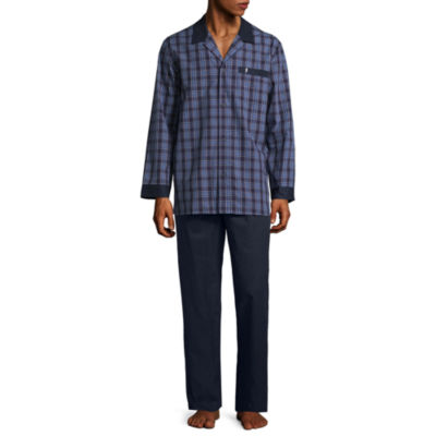 Jockey Men's Yarn Dye Woven Pajama Set-Big and Tall
