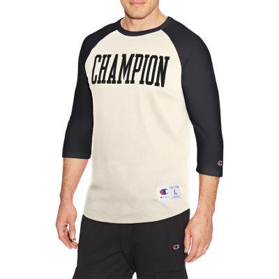 Champion Heritage 3 4 Sleeve Crew Neck T Shirt Athletic