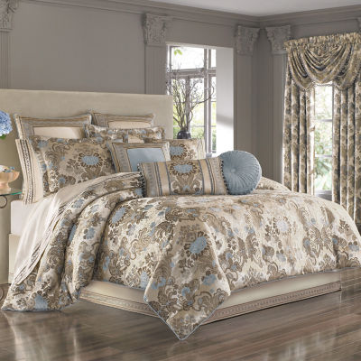 Queen Street Jordana 4-pc. Damask + Scroll Heavyweight Comforter Set