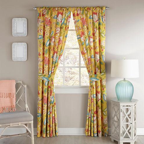 Waverly Modern Poetic Rod-Pocket Curtain Panel