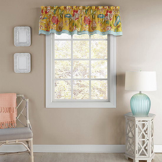 Waverly Modern Poetic Rod-Pocket Tailored Valance