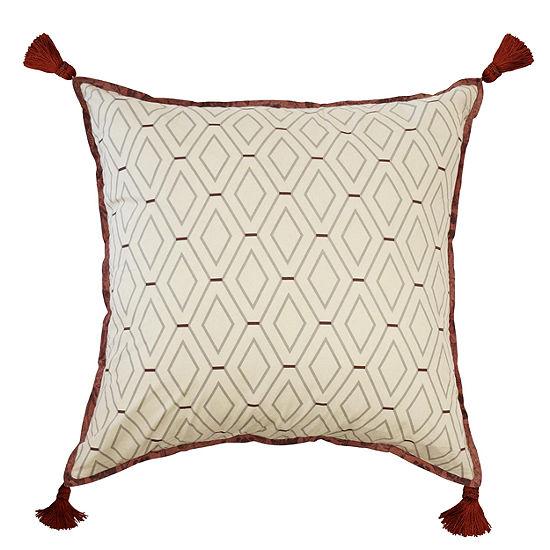 Waverly Fresco Flourish Floral Euro Pillow