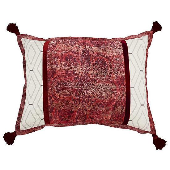 Waverly Fresco Flourish Rectangular Throw Pillow