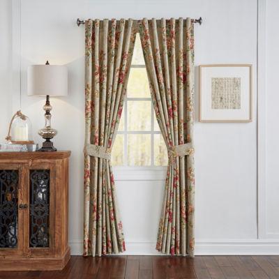 Waverly Fresco Flourish Rod-Pocket Curtain Panel
