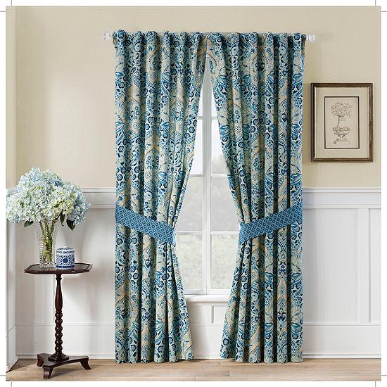 Waverly Moonlit Shadows Rod-Pocket Single Curtain Panel