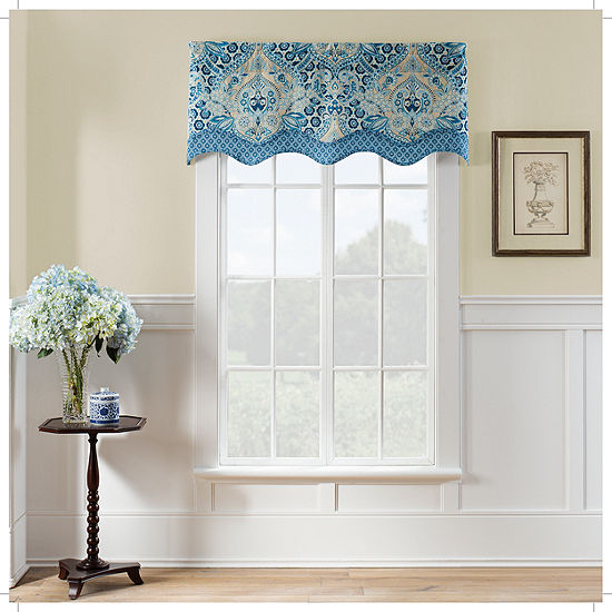 Waverly Moonlit Shadows Rod-Pocket Tailored Valance