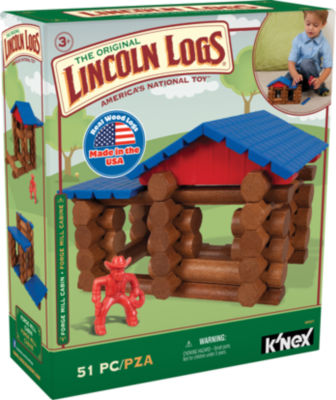 LINCOLN LOGS – Forge Mill Cabin – 51 Pieces – Ages 3+ – Preschool Education Toy