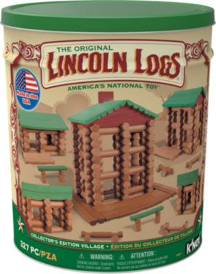 Lincoln Logs Collector's Edition Village - 327 Pieces Preschool Education Toy - For Ages 3+