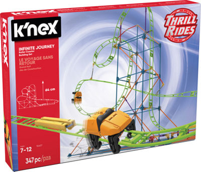 K'NEX Thrill Rides – Infinite Journey Roller Coaster Building Set – 347 Pieces – Ages 7+ – Engineering Education Toy