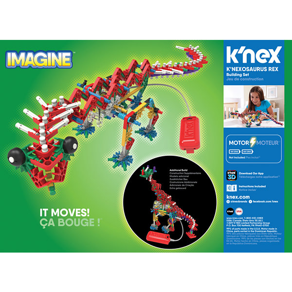 K'NEX Beasts Alive – K'NEXosaurus Rex Building Set – 255 Pieces –  Ages 7+ - Engineering Education Toy