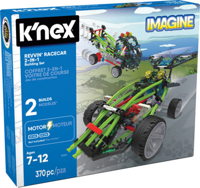 K'NEX Imagine – Revvin' Racecar 2-in-1 Building Set – 370 Pieces – Ages 7+ – Engineering Education Toy