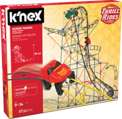 K'NEX Thrill Rides - Hornet Swarm Roller Coaster Building Set - Ages 9+ - Construction Education Toy