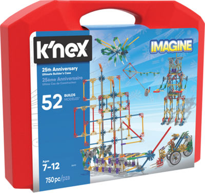 K'NEX Imagine - 25TH Anniversary Ultimate Builder's Case - 750 Pieces - Ages 7+ - Construction Education Toy