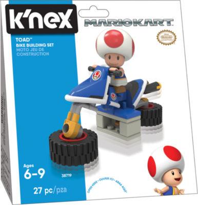 K'NEX Mario Kart - Toad Bike Building Set - 27 Pieces - Ages 6+ - Construction Toy
