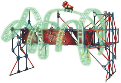 K'NEX Thrill Rides – Web Weaver Roller Coaster Building Set – 430 Pieces – Ages 9 and Up – Construction Education Toy