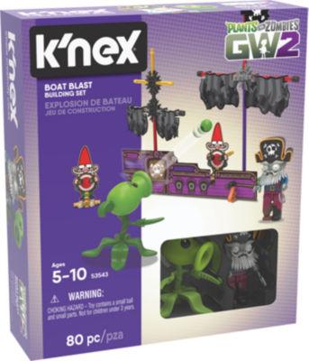 K'NEX Plants vs Zombies - Boat Blast Building Set - 80 Pieces - Ages 5+ - Construction Toy