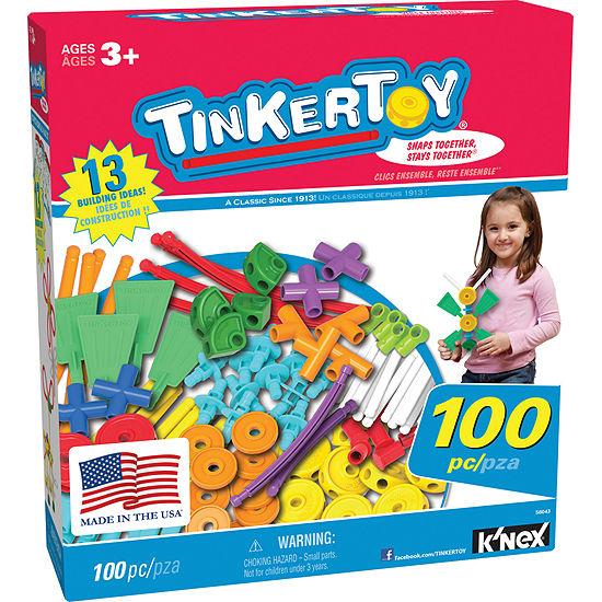 TINKERTOY ‒ 100 Piece Essentials Value Set ‒  Ages 3+ - Preschool Education Toy