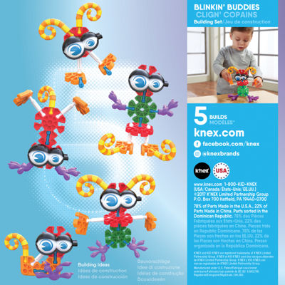 KID K'NEX – Blinkin' Buddies Building Set – 23 Pieces – Ages 3 and Up - Preschool Education Toy