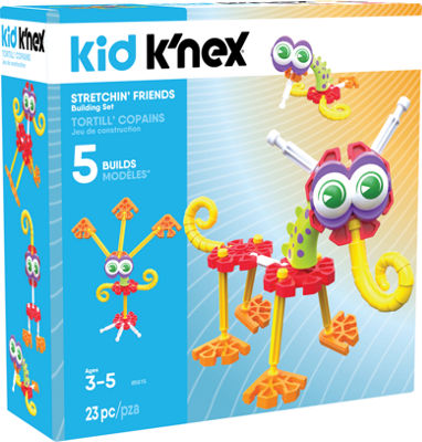 KID K'NEX – Stretchin' Friends Building Set – 23 Pieces – Ages 3 and Up - Preschool Education Toy