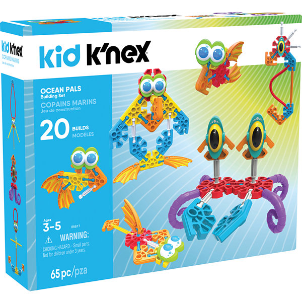 KID K'NEX – Ocean Pals Building Set – 65 Pieces – Ages 3 and Up - Preschool Education Toy