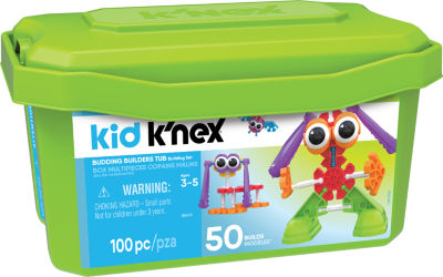 KID K'NEX – Budding Builders Building Set – 100 Pieces – Ages 3 and Up – Preschool Education Toy