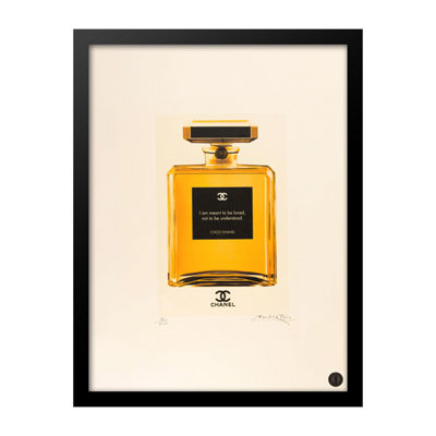 Fairchild Paris Orange Chanel No. 5 Loved Quote Framed Wall Art