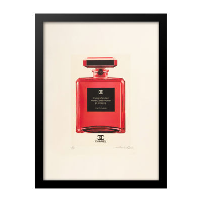Fairchild Paris Chanel No. 5 Crying Quote Framed Wall Art