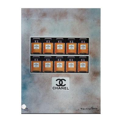Fairchild Paris 10 Classic Chanel No. 5 Bottles Framed Wall Art