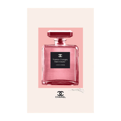 Fairchild Paris Pink Chanel No. 5 Coco Chanel Fashion Quote Framed Wall Art