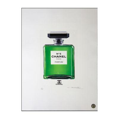 Fairchild Paris Chanel No. 5 Green Bottle Framed Wall Art