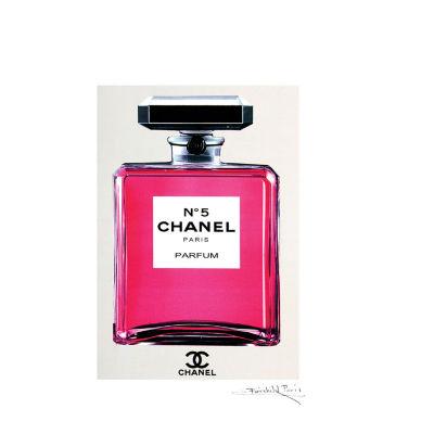 Fairchild Paris Pink Chanel No. 5 (301) Framed Framed Wall Art