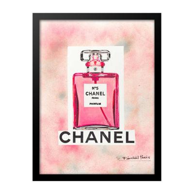 Fairchild Paris Pink Chanel No. 5 Pink Bottle Framed Wall Art